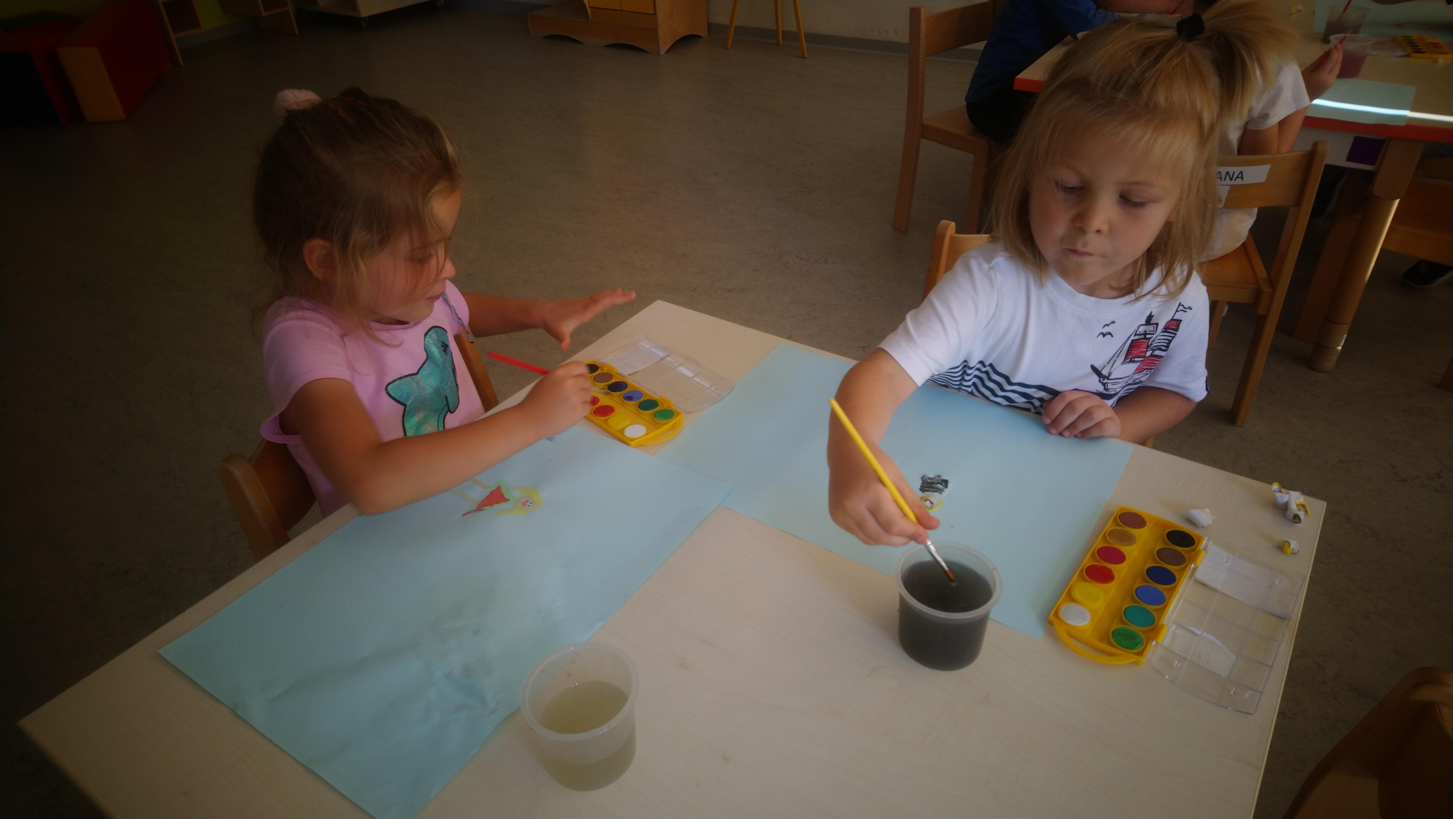 Rodzina namalowana farbami