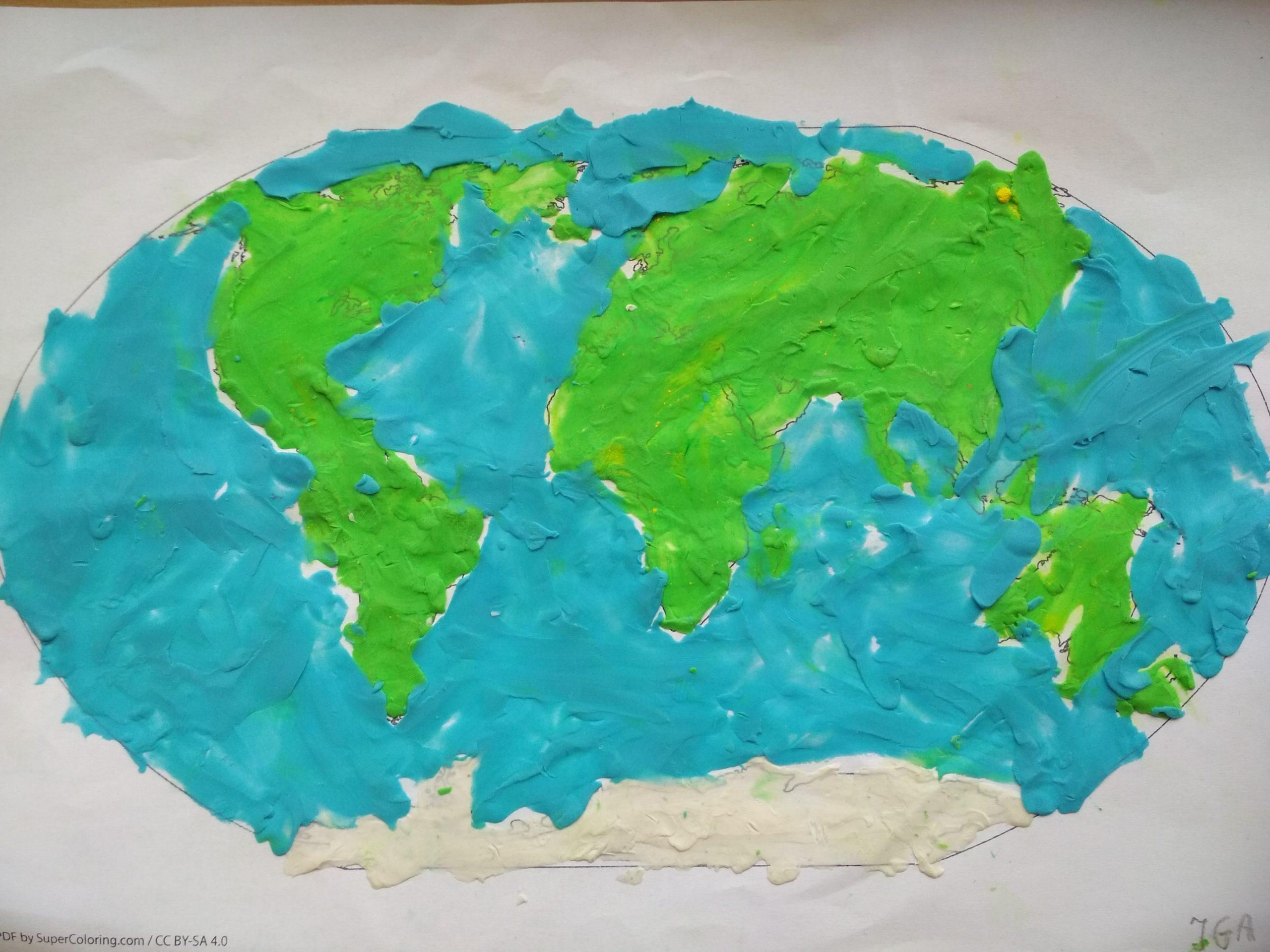 Poznajemy kontynenty – praca plastyczna